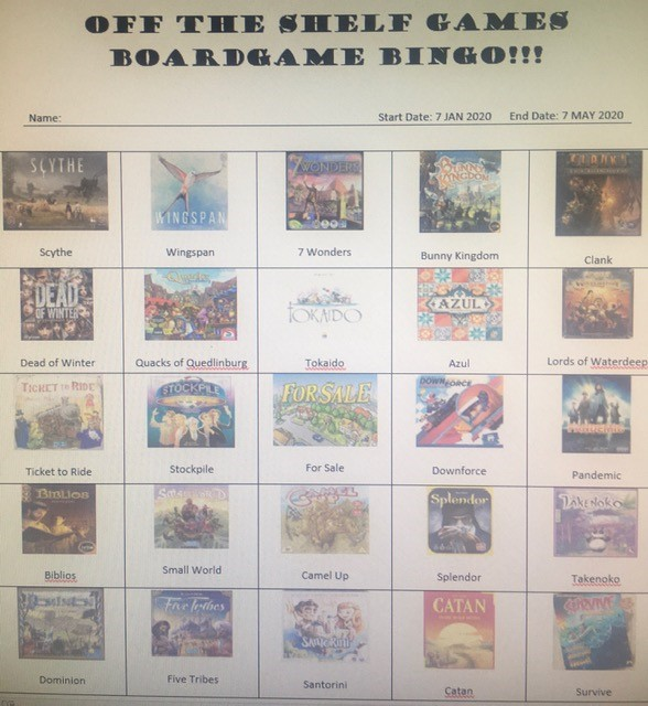 Boardgame Bingo